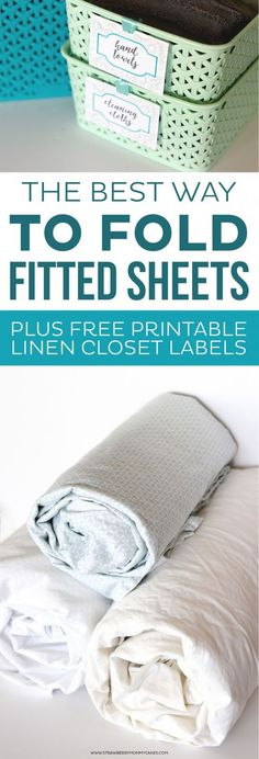 The BEST Way to Fold Fitted Sheets