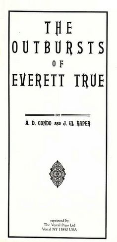 The Outbursts of Everett True Title Page