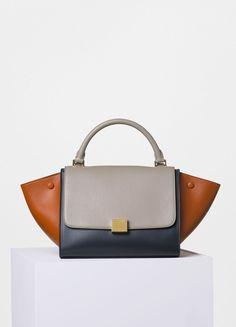 Small Trapeze Bag in Multicolour Shiny Smooth Calfskin - Céline