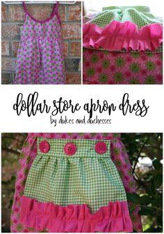 easy DIY dollar store apron dress