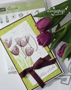 Zauberhaft-handgemacht: Tranquil Tulips #2 und #3, SU, 70, Geburtstag