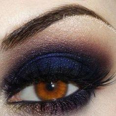 Smokey bleue nuit violet et doré