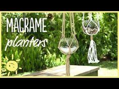 DIY   5 Minute Macrame Planters - YouTube