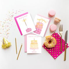 greeting card with macaron - Google Search