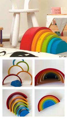 Arcoíris WALDORF, cuántos usos más conoces?? Montessori, Towels, Toys