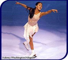 Michelle Kwan -White Figure Skating / Ice Skating dress inspiration for Sk8 Gr8 Designs.
