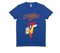 MIGHTY MOUSE $29 trippstshirts.com #mightmouse #cartoons #mouse #capes #tshirts #tshirtsrestinpeoplespersonalitees