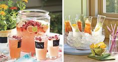 Beverage services to wow at your next party! #chalkboardpaint