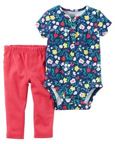 3417c803870a 2-Piece Bodysuit Pant Set. Floral BodysuitKids And ParentingCarters Baby  GirlBaby GirlsOfficial StoreBaby WearingOur BabyEverything BabyBabies  Clothes