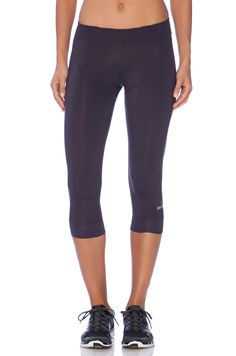 adidas by Stella McCartney 3/4 Perforated Studio Tights in Dark Space | REVOLVE