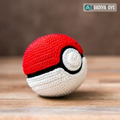"""Introducing unique amigurumi pattern of Pokeball! Pokeball is an object from popular franchise Pokemon, which helps you to catch Pokemons. """"Pokemon"""" is a media franchise managed by The Pokemon Company, a Japanese consortium between Nintendo, Game Freak, and Creatures."""