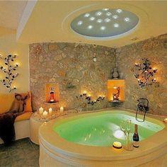 spa-themed bathroom