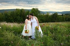 Rustic same sex wedding at the Inn at Bristol Harbor, Canandaigua NY