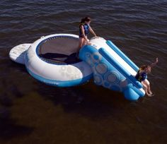 Rave Sports O-Zone Plus 9 ft. Water Bouncer with Slide