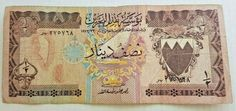 Half Bahraini Dinar version of Bahrain in 1973 AD Paper Old Rare Money Banknote, Vintage World Maps, Money, Paper, Ebay, Silver