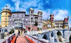 Pena Palace in Portugal via Selene on Facebook