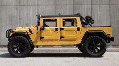 2000 Hummer H1 #yellow