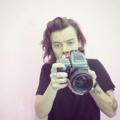 I love when he holds the Camera