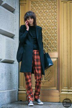 New York Fashion Week Fall 2017 Street Style: Mica Arganaraz Street Style 2017, Street Style Trends, Look Street Style, Fashion Week, New York Fashion, Look Fashion, Daily Fashion, Fashion Outfits, Fashion Trends