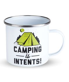 Look at this 'Camping is Intents' Enamel Mug on #zulily today!