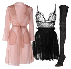 Blush & Black by carolineas on Polyvore featuring polyvore, fashion, style, Alexander McQueen, MaxMara, Balmain and clothing