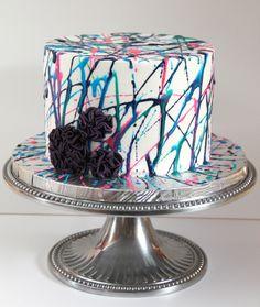 Brooke's 12th splatter paint cake