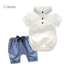 Newborn Boy Clothing Set Cotton shorts Romper + Shorts 3-24M Baby Suit Butterfly Bow Tie Infant Romper summer Kids Outwear //Price: $26.64 //     ##babyfashion