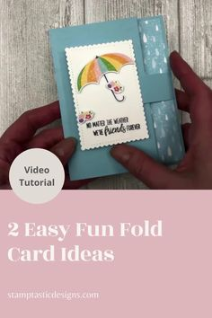 Easy Birthday Cards, Special Birthday Cards, Bday Cards, Handmade Birthday Cards, Greeting Cards Handmade, Flip Cards, Fancy Fold Cards, Folded Cards, Umbrella Cards