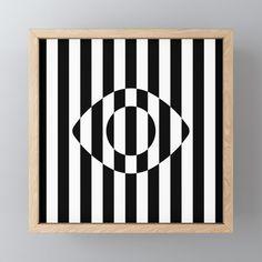 Buy Minimal Striped Op Art Eye Framed Mini Art Print by Bitart. Tribal Art, Geometric Art, Painters Tape Art, Paper Collage Art, Teen Art, Mandala Art Lesson, Art Optical, Ecole Art, Pattern Art