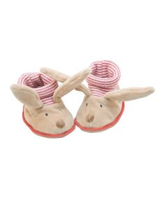 Take a look at this Sylvain the Rabbit Baby Slippers by Magic Forest on #zulily today! $15 !!