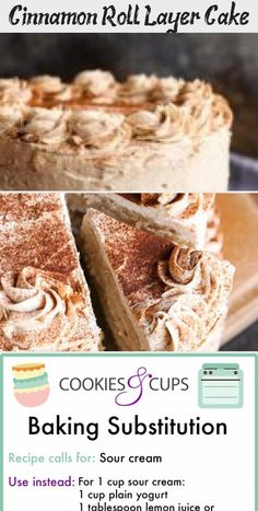 Cinnamon Roll Layer Cake...a buttery cinnamon cake layered with cinnamon glaze and cinnamon buttercream...EAT CAKE FOR BREAKFAST! #9x13CakeRecipes #MoistCakeRecipes #MarbleCakeRecipes #KetoCakeRecipes #CakeRecipesForKids #MoistChocolateCakeRecipe Marble Cake Recipes, Layer Cake Recipes, Cinnamon Cake, Cinnamon Rolls, Cake Recipes For Kids, Baking Recipes, Sour Cream Uses, Chocolate Souffle, Chocolate Cake