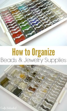 Jewelry supplies are a special challenge to organize. Follow along as we show you how to organize beads & other jewelry supplies with this easy solution.