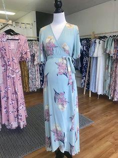 Harlow Maternity & Nursing Wrap Dress in Mint