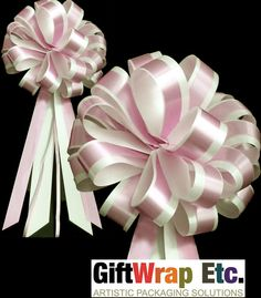 10 Pink White Wedding Pew Bows Church Gift by giftwrapetc on Etsy, $19.95