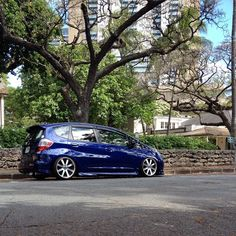 """""""Being one with nature.  #honda #hondafit #hondajazz #happystance #stance #bagged #noairnolife #becausebags #hondaoutfit #slammed #illesthondas #wagonsteez #carporn #ge8 #ge8fitsonly #lowerstandards #properfitment #gegarage"""" Photo taken by @man_e_faces58 on Instagram, pinned via the InstaPin iOS App! http://www.instapinapp.com (03/30/2015)"""