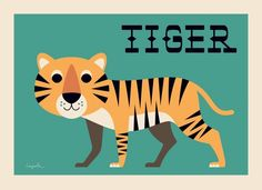 #Tiger #Poster by #Ingela poster nieuws gierige tijger 50x70 from…