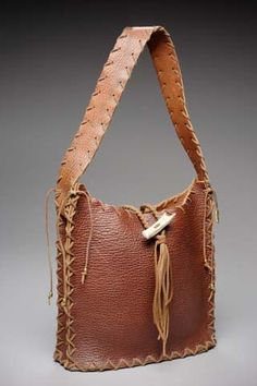 Bison leather purse by Desert Raven Art. Awesome bag at an incredible price! $125.00