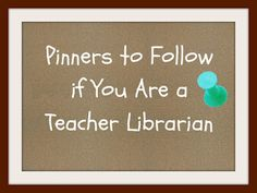 So many great pinterest board to follow for teacher librarians / media specialists!