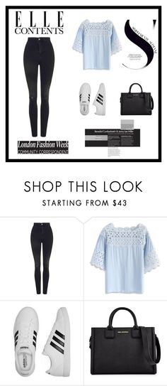 """""""Untitled"""" by teszter0528 on Polyvore featuring Topshop, Chicwish, adidas and Karl Lagerfeld"""