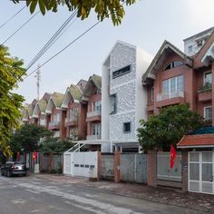 This house is a block in a row house in the expensive New Urban area, but now seem to be neglected after the economic crisis in Vietnam. Within the regulation, the slope roof is a must when doing renovation…We want this place to be reborn,...