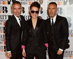 Pin for Later: Les Stars de la Musique Se Rendent à Londres Pour les Brit Awards Noomi Rapace, Dean et Dan Caten