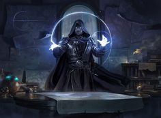 MTG - Rhystic Study - Rhystic Study was just revealed as a Judge Exemplar promo! - ART by Paul Canavan - Art Director at Axis High Fantasy, Medieval Fantasy, Fantasy World, Dnd Characters, Fantasy Characters, Fantasy Inspiration, Character Inspiration, Fantasy Character Design, Character Art