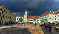 Main Square In The Old Town Of Bratislava, Slovakia by Elenarts - Elena Duvernay photo Day Trips From Vienna, Budapest Travel, Bratislava Slovakia, European Destination, Famous Places, Old Town, Good Day, Travel Photos, Old Things
