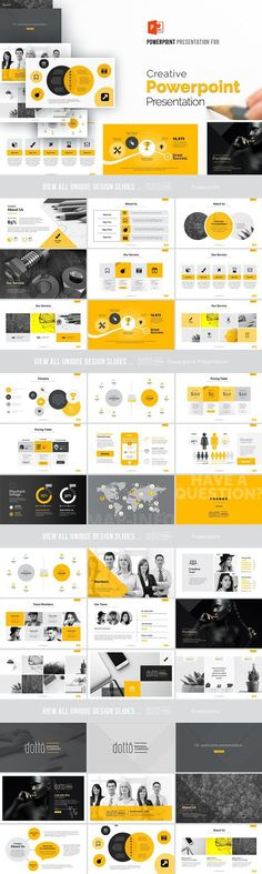 Creative Powerpoint Presentation #layout #cover