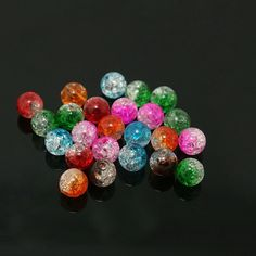 New Arrival Approx 8mm 100pcs/lot Mixed Color Acrylic Round Beads for DIY Jewelry BSD057-99