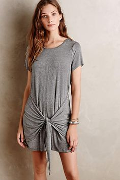 Tied T-Shirt Dress - anthropologie.com