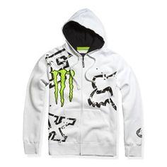 I be Fox Racing Monster Ricky Carmichael Replica Downfall Men's Hoody Zip Racewear Sweatshirt/Sweater - White / Large Cross Training, Fox Racing Clothing, Racing Baby, Fox Brand, Adidas Originals, Fox Logo, Fox Girl, Riding Gear, Country Outfits