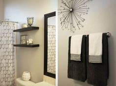 Brown And White Bathroom Decor