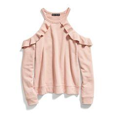 Stitch Fix Fall Stylist Picks: Cold Shoulder Ruffled Sweatshirt