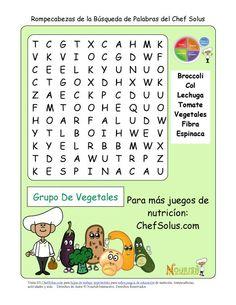 Estos rompecabezas de búsqueda de palabras se concentran en los grupos alimenticios y sus beneficios saludables. Estos rompecabezas de búsqueda de palabras son una versión más fácil con letras más grandes y 7 palabras para los lectores más jóvenes.